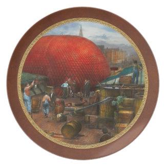 Globo - globo de relleno en Wanamaker - 1911 Platos