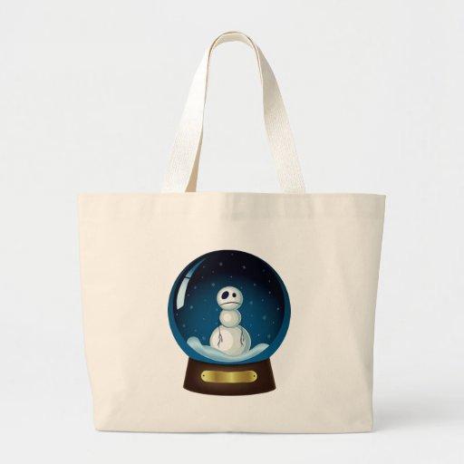 Globo gótico de la nieve del muñeco de nieve bolsa de mano