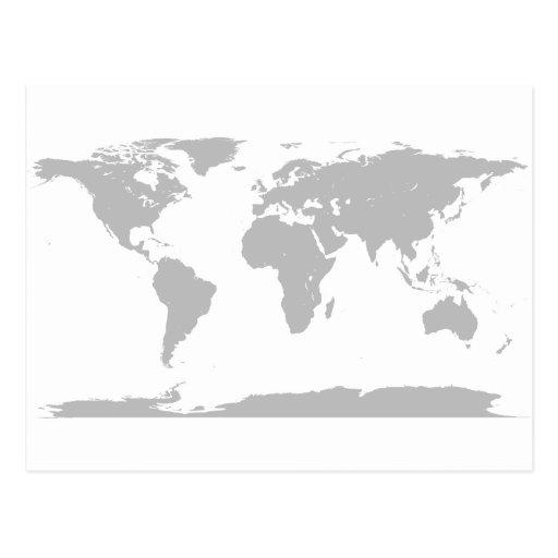 globo gris tarjeta postal