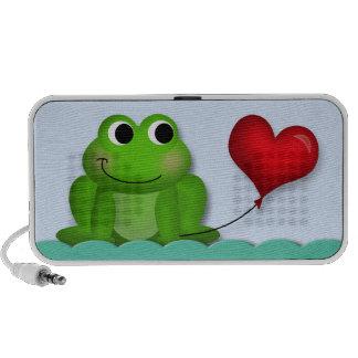 Globo lindo del corazón del Froggy - altavoz del D