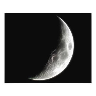 Globo lunar del planeta de la luna cuarta flyer a todo color