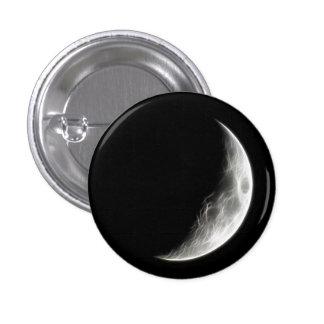 Globo lunar del planeta de la luna cuarta pin redondo de 1 pulgada