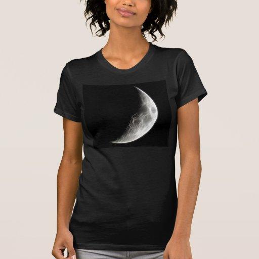 Globo lunar del planeta de la luna cuarta tee shirt