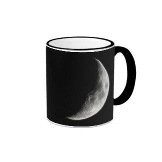 Globo lunar del planeta de la luna cuarta taza a dos colores