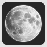 Globo lunar del planeta de la Luna Llena Colcomanias Cuadradas Personalizadas