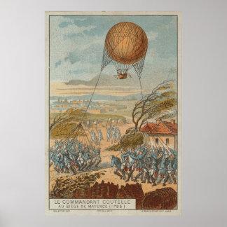 Globo militar - cerco de Mayence 1795 Póster