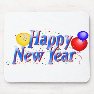 Globo Mousepad de la Feliz Año Nuevo Alfombrillas De Ratón