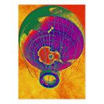 Globo multicolor del globo del mundo, cielo anaran plantillas de tarjeta de negocio