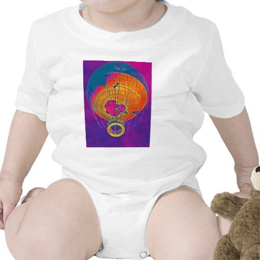 Globo multicolor del globo del mundo, cielo traje de bebé