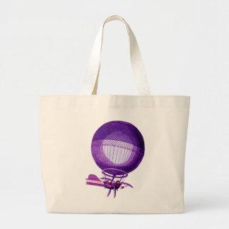 Globo (púrpura) del aire caliente del hidrógeno de bolsa tela grande