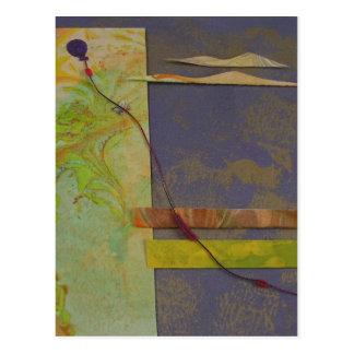 Globo púrpura tarjeta postal