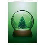 Globo realista de la nieve del navidad tarjeta de felicitación
