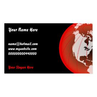 Globo rojo de América, su nombre aquí, Tarjetas De Visita