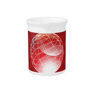 Globo rojo de la energía jarras