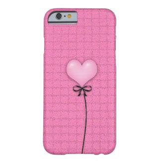 Globo rosado femenino del corazón funda de iPhone 6 slim