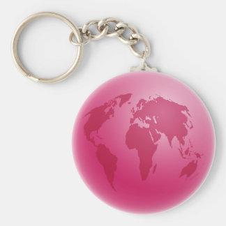 Globo rosado llavero redondo tipo pin