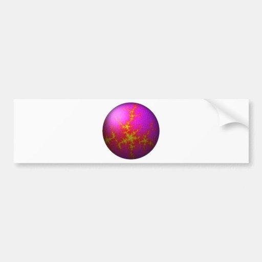 Globo rosado púrpura del fractal etiqueta de parachoque