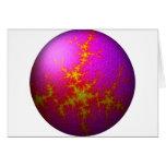 Globo rosado púrpura del fractal felicitaciones