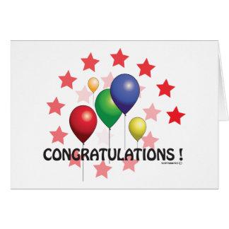 globo tarjeta de felicitación