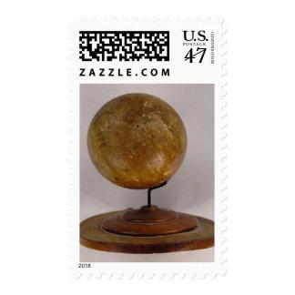 Globo terrestre 2 timbres postales