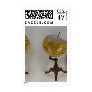 Globo terrestre timbre postal