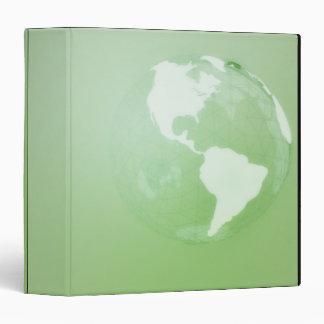 """Globo verde carpeta 1 1/2"""""""