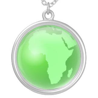 Globo verde de África Colgante Redondo