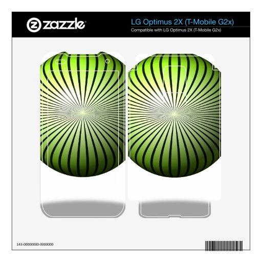 Globo verde de la estrella LG optimus 2X skins