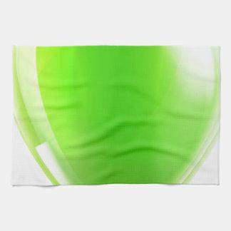 Globo verde del cumpleaños o del fiesta toalla de mano
