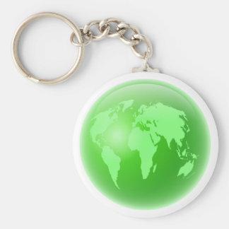 Globo verde llaveros