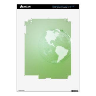 Globo verde pegatinas skins para iPad 3