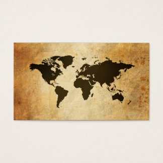 Globo viejo del mapa de las tarjetas de visita