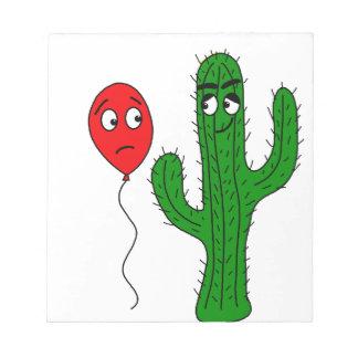 Globo y cactus bloc de notas
