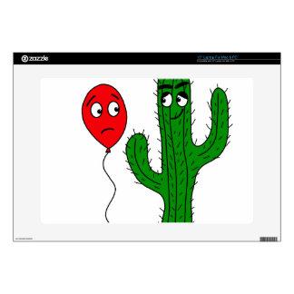 Globo y cactus calcomanías para portátiles