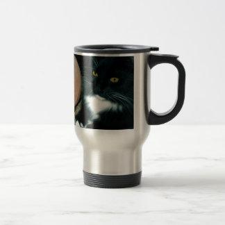 Globo y gato de la sal psíquicos - fotografía taza de viaje