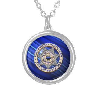 Globo y insignia finos de Blue Line Colgantes Personalizados