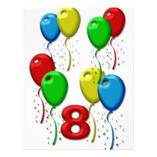 globos 08 años tarjetón