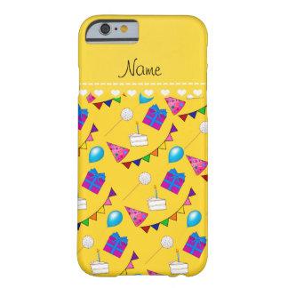 Globos amarillos conocidos del gorra de la torta funda de iPhone 6 barely there