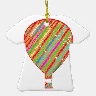 Globos ARTÍSTICOS de las rayas del color intenso Adorno De Cerámica En Forma De Playera