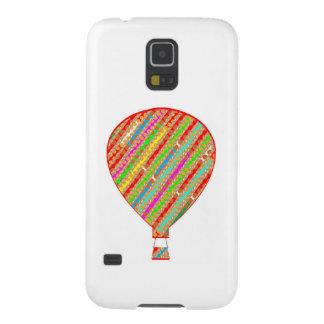 Globos ARTÍSTICOS de las rayas del color intenso Carcasa De Galaxy S5