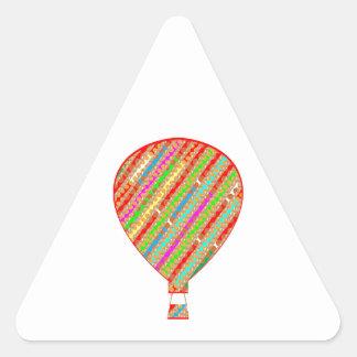 Globos ARTÍSTICOS de las rayas del color intenso Pegatina Triangular