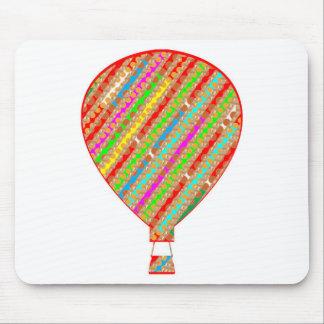 Globos ARTÍSTICOS de las rayas del color intenso Alfombrilla De Ratón