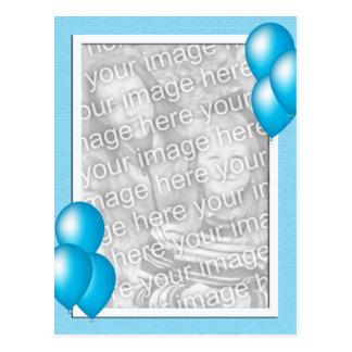 Globos azules tarjetas postales