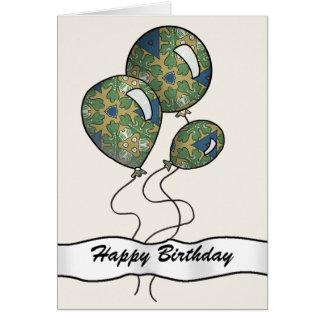 Globos brillantemente coloreados del fiesta tarjeta de felicitación