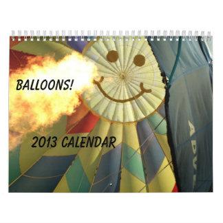 ¡Globos!  Calendario 2013