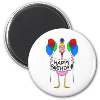 Globos caprichosos del feliz cumpleaños del flamen iman