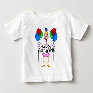 Globos caprichosos del feliz cumpleaños del playera de bebé