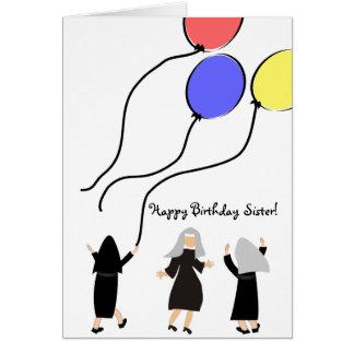 Globos católicos de la tarjeta de cumpleaños de la