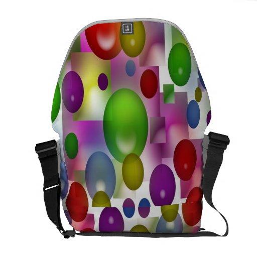 Globos coloreados bolsas de mensajeria