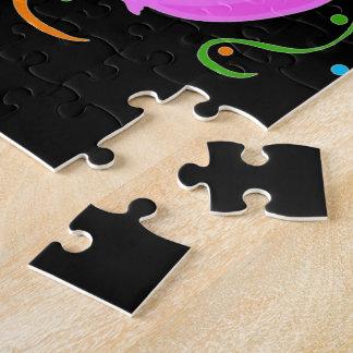 Globos coloreados de la fiesta de cumpleaños puzzle con fotos